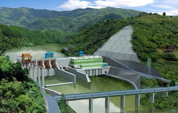 水利工程施工三维动画