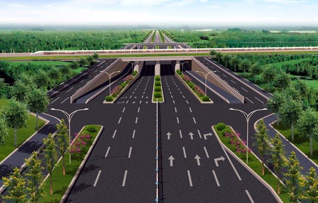 道路规划施工三维演示
