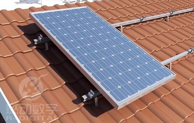 太阳能板安装施工三维