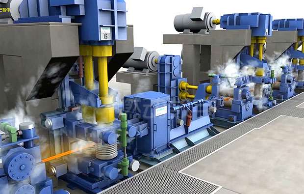 工业冶金制造加工生产线三维动画演示制作
