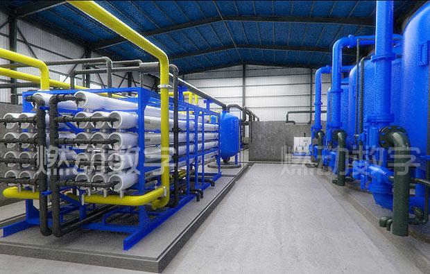 工业水处理工艺过程三维动画/海水淡化系统仿真演示