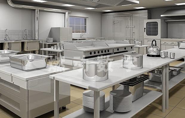 酒店厨房设备三维动画