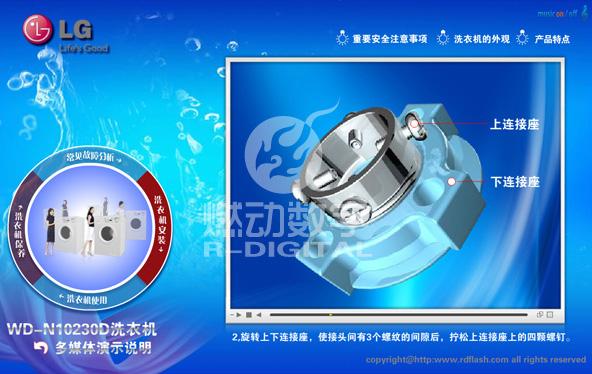 LG洗衣机三维交互电