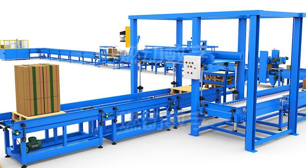 包装印刷生产线三维动